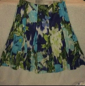 Multicolored floral skirt size 6